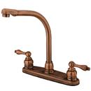Kingston Brass KB716ALLS High Arch Kitchen Faucet, Antique Copper