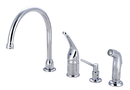 Kingston Brass KB821K1 Single Handle Kitchen Faucet with Soap Dispenser, Polished Chrome