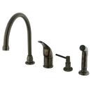 Kingston Brass KB825K5 Single Handle Kitchen Faucet with Soap Dispenser, Oil Rubbed Bronze