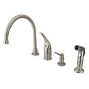 Kingston Brass KB828K8 Single Handle Kitchen Faucet with Soap Dispenser, Satin Nickel