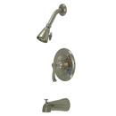 Kingston Brass KB8638FL Single Handle Tub & Shower Faucet, Satin Nickel