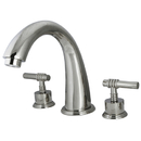 Kingston Brass KS2361ML Two Handle Roman Tub Filler, Chrome