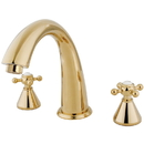 Kingston Brass KS2362BX Two Handle Roman Tub Filler, Polished Brass
