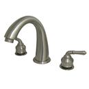 Kingston Brass KS2368 Two Handle Roman Tub Filler, Satin Nickel