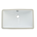 Kingston Brass LB18127 White China Undermount Bathroom Sink with Overflow Hole, White