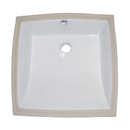 Kingston Brass LB18187 White China Undermount Bathroom Sink with Overflow Hole, White