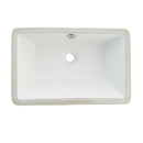 Kingston Brass LB21137 White China Undermount Bathroom Sink with Overflow Hole, White