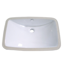 Kingston Brass LB24157 White China Undermount Bathroom Sink with Overflow Hole, White