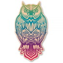 Wood Stickers AN-OW03-R Woodsticker Color Owl The Third Sticker