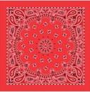 Bandanas Red W/Hang Tag & Upc