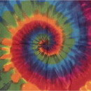 CAROLINA MANUF B22TIE-100150 Bandana Tie Dye Rainbow