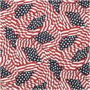 CAROLINA MANUF B22AME-000115 Tossed American Flag