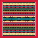 Modern Aztec W/Red Trim