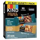 Kind 721837 Mini'S Variety Pack 20Ct - Dark Chocolate Nut Sea Salt And Coconut Almond Sea Salt