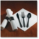 Hoffmaster Pre-rolled Linen-Like dinner napkin and heavyweight cutlery