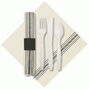 Hoffmaster 120012 Printed FashnPoint CaterWrap Napkin Rolled Cutlery, 15-1/2