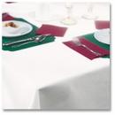 Hoffmaster 210441 8108-W White Linen-Like Tablecover