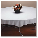 Hoffmaster 210451 882-WOC White Linen-Like Octy-Round Tablecover