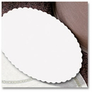 Hoffmaster 327136 900-W White Oval Wastebasket Liner, Scalloped