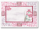 Hoffmaster 702069 901-CC44 Maroon Floral Placemat