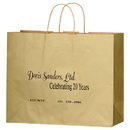 Custom 4M16613 Matte Colored Shoppers With Natural Kraft Interior