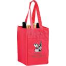 Custom VINE4 4 Wine Bottle Bag With Velcro Closure Handles