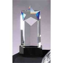Custom Prism Optical Star Column Crystal Award With Black Base