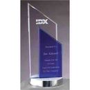 Custom Glass And Metal Award, Angled Top 1/2