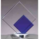 Custom Glass And Metal Award, Double Diamond Shape 1/2