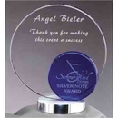 Custom Glass And Metal Award, Double Round Shape 1/2