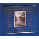 Custom Cherished Memories Awards With Picture Frame, Slide In Frame Holds 4
