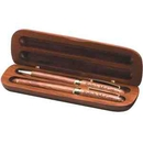 Custom Double Rosewood Gift Box, Master Crafted Double Rosewood Gift Set With Pen And Pencil In A Rosewood Box