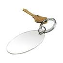 Custom Creative Gifts Oval Key Chain, Nickel Plate 3.75