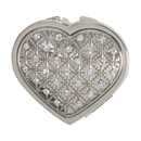 Custom Creative Gifts Heart CompactCrystals Nickel Plate