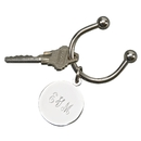 Custom Creative Gifts Disc Key Chain, Nickel Plate 3