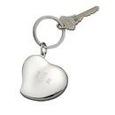 Custom Creative Gifts Heart Locket Key Chain, Nickel Plate, 3.5