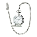 Custom Brushed Stainless Steel Pocket Watch w/ 12
