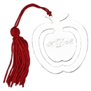 Custom Apple Bookmark w/ Red Tassel, NP 2.875