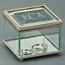 Custom Square Hinged Box, Glass, 3.25