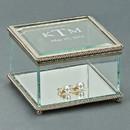 Custom Square Hinged Box, Glass, 3.75