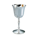 Custom Creative Gifts Water Goblet, Nickel Plate 12 Oz Cap, 7.25