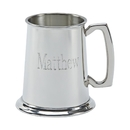 Custom Bright Tankard, Pewter 16 Oz Capacity, 4.5