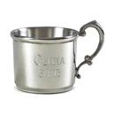Custom Baby Cup, Pewter, 4 Oz Capacity, 3