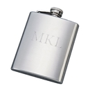 Custom Brushed Flask, SS 8 Oz Capacity, 5
