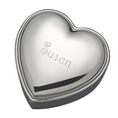Custom Creative Gifts Heart Jewelry Box, Nickel Plate, 3