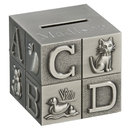 Custom Creative Gifts Block Bank - Brushed Finish