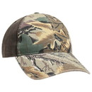 Blank OTTO 6 Panel Low Profile Camouflage Garment Washed Cotton Blend Twill W/ Heavy Washed Pu Coated Back Baseball Cap