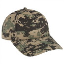 Custom OTTO 100% CottonDigital Camouflage Cotton Ripstop Six Panel Low Profile Baseball Cap
