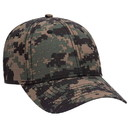 Blank OTTO 100% CottonDigital Camouflage Cotton Ripstop Six Panel Low Profile Baseball Cap