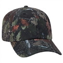 Custom OTTO 6 Panel Camouflage Polyester Canvas Low Profile Cap